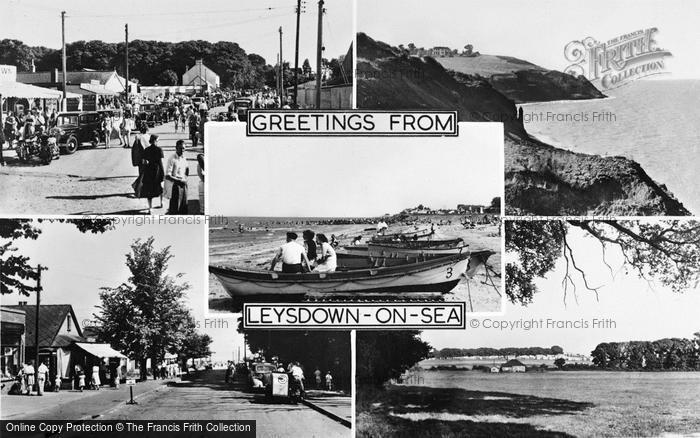 Photo of Leysdown On Sea, Composite c.1955