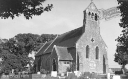 The Church Of St Clement c.1955, Leysdown-on-Sea
