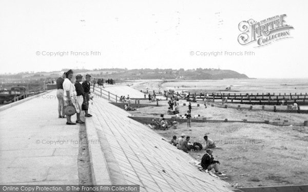 Photo of Leysdown On Sea, The Sea Wall And Beach c.1955