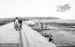 The Sea Wall And Beach c.1955, Leysdown-on-Sea
