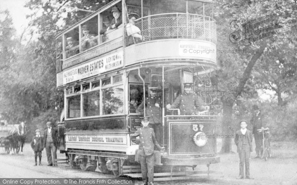 Photo of Leyton, District Council Tramcar 57 c.1910