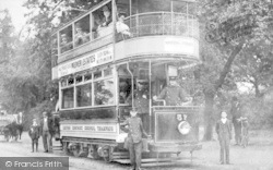 Leyton, District Council Tramcar 57 c.1910