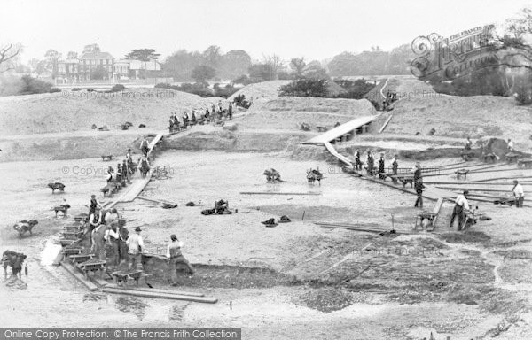 Photo of Leytonstone, Excavating The Swimming Pool At Hollow Ponds 1907