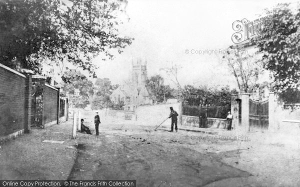 Photo of Leytonstone, High Road And St John's Church c.1860