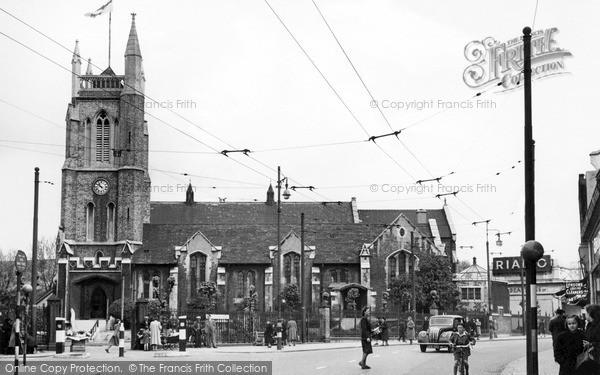 Photo of Leytonstone, St John's Church c1950