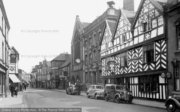 Photo of Lichfield, Bore Street c.1955