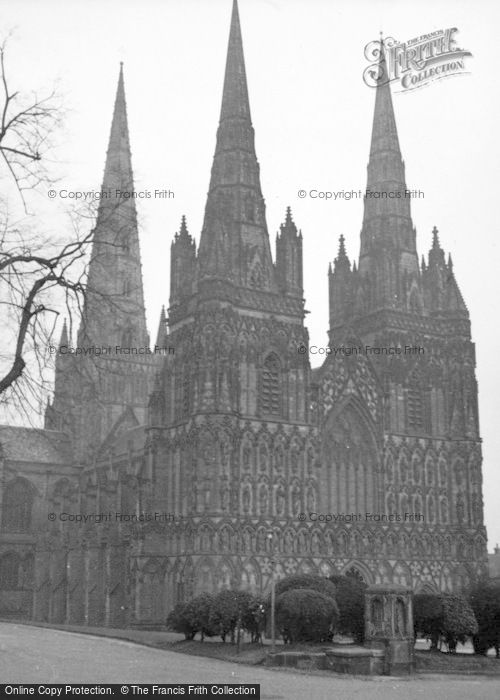 Photo of Lichfield, Cathedral 1946