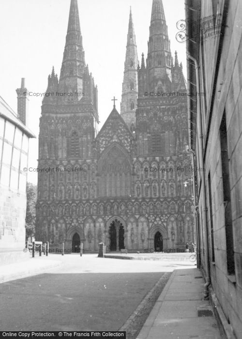 Photo of Lichfield, Cathedral 1952