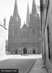 Lichfield, Cathedral 1952