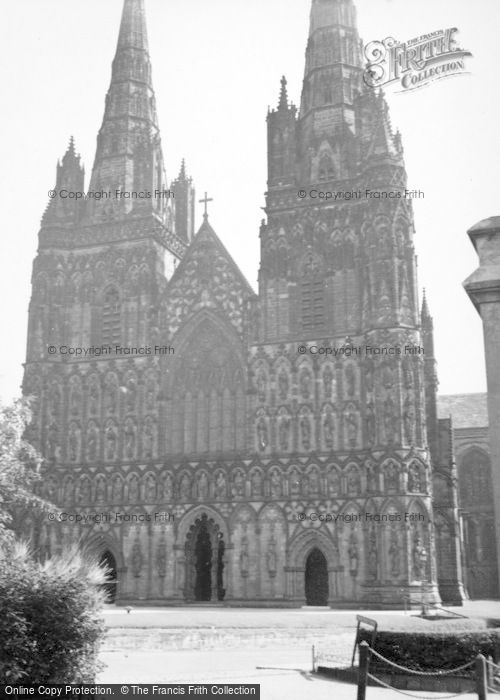 Photo of Lichfield, Cathedral 1953