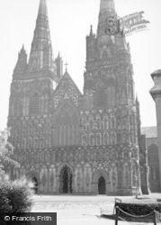Lichfield, Cathedral 1953