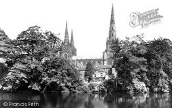 Cathedral And Minster Pool c.1955, Lichfield