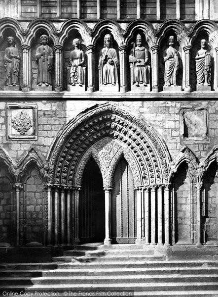 Photo of Lichfield, Cathedral Apostle Porch c.1865