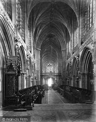 Lichfield, Cathedral Choir West c.1866