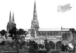 Cathedral From The South c.1866, Lichfield