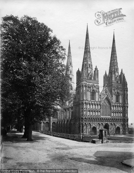 Photo of Lichfield, Cathedral North West c.1866