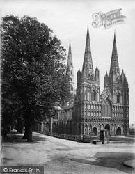 Lichfield, Cathedral North West c.1866