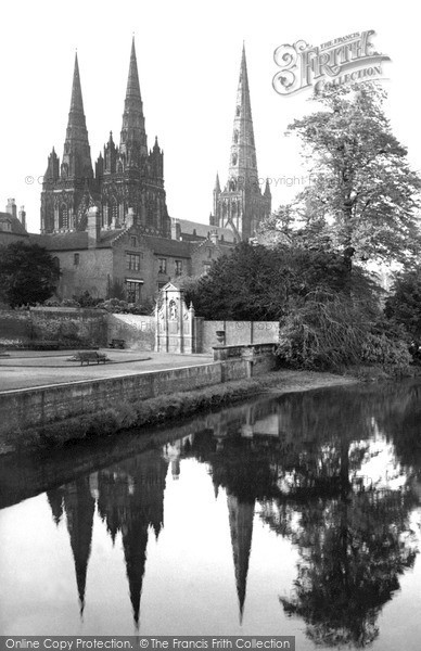 Photo of Lichfield, Cathedral, Reflections 1969