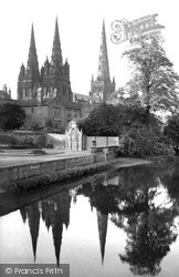 Cathedral, Reflections 1969, Lichfield