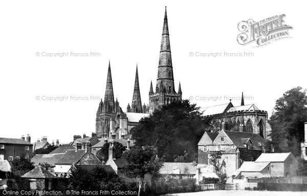 Photo of Lichfield, Cathedral South East c.1865