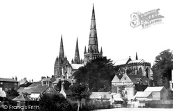 Lichfield, Cathedral South East c.1865