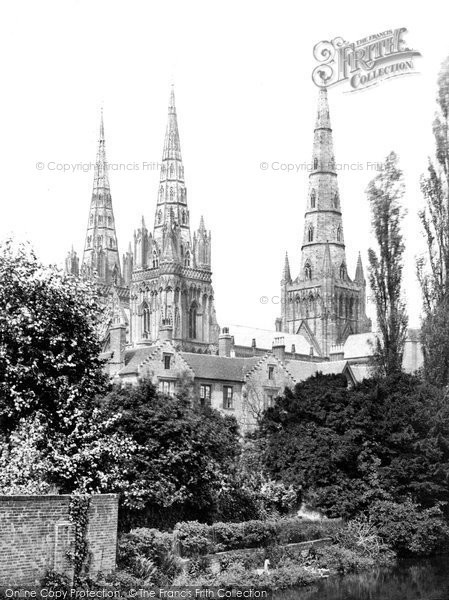 Photo of Lichfield, Cathedral Spires c.1865