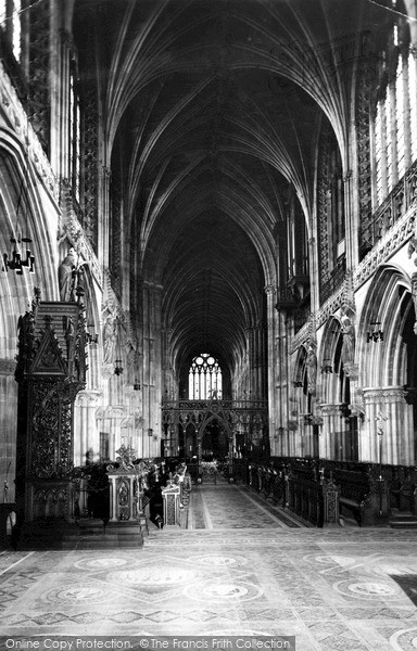 Photo of Lichfield, Cathedral, The Choir Showing The Bishop's Throne c.1955