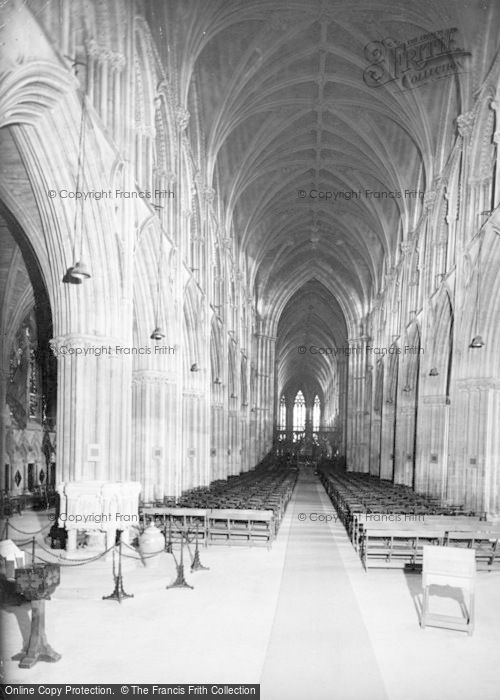 Photo of Lichfield, Cathedral, The Nave c.1955