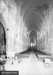 Lichfield, Cathedral, The Nave c.1955