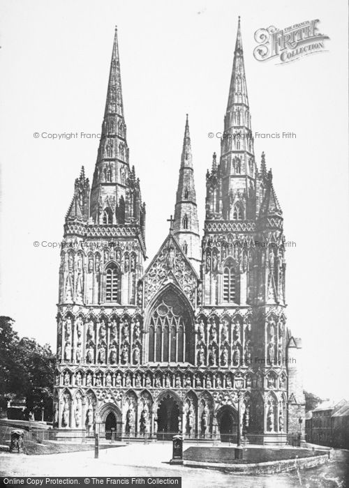Photo of Lichfield, Cathedral, West Front 1887