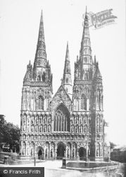 Lichfield, Cathedral, West Front 1887