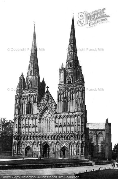 Photo of Lichfield, Cathedral West Front c.1866