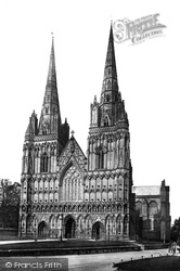 Cathedral West Front c.1866, Lichfield