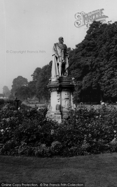 Photo of Lichfield, King Edward Vii Statue c.1965