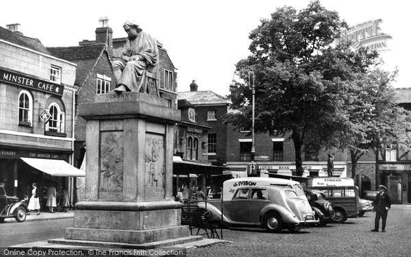 Photo of Lichfield, Market Place c1955