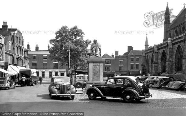 Photo of Lichfield, Market Square c.1955