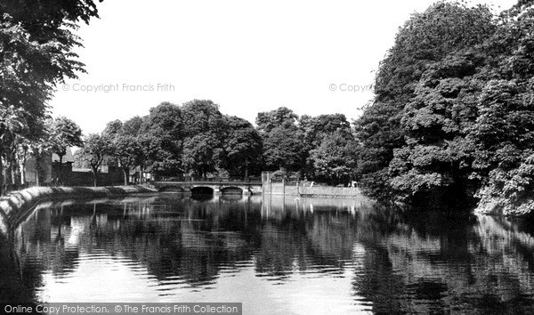 Photo of Lichfield, Minster Pool c.1955