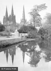 Lichfield, Reflections, The Cathedral c.1965