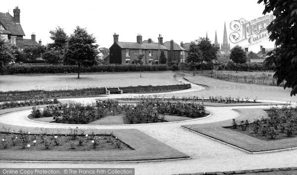 Photo of Lichfield, Rose Gardens c.1955