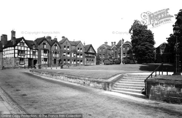 Lichfield, St Chads School and Cathedral Close c1955