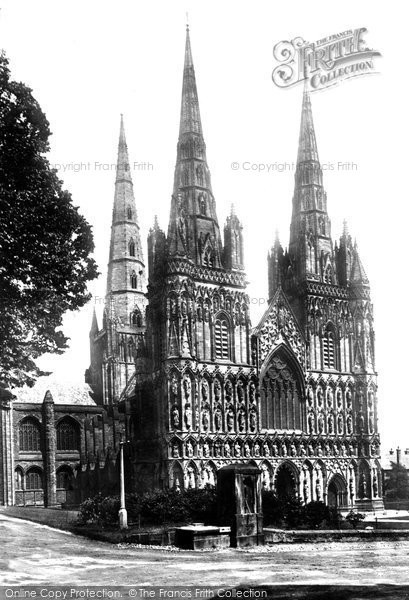 Photo of Lichfield, The Cathedral 1887