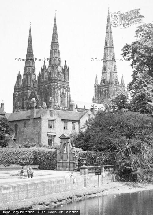 Photo of Lichfield, The Cathedral And Garden Of Remembrance c.1955