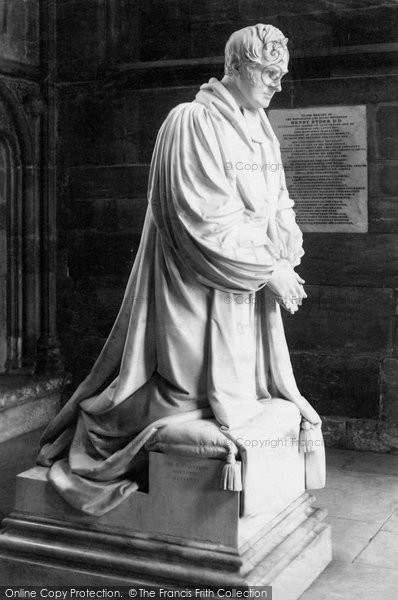Photo of Lichfield, The Cathedral, Bishop Ryder Monument c.1880
