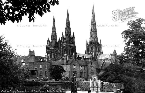 Photo of Lichfield, The Cathedral c.1950