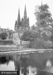 Lichfield, The Cathedral c.1950