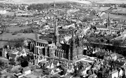 Lichfield, the Cathedral c1953
