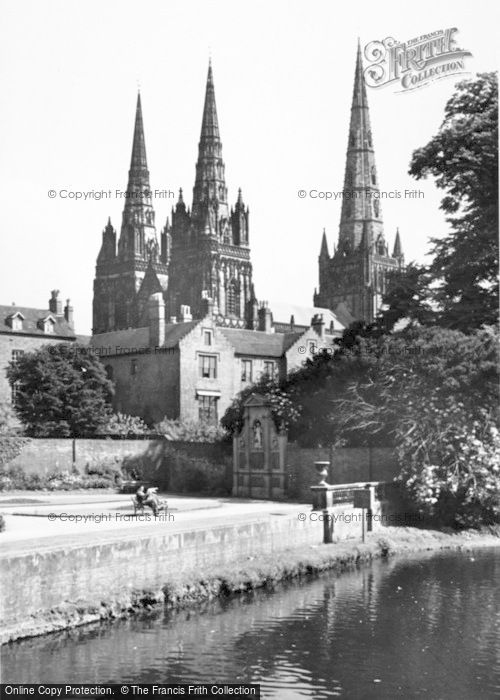 Photo of Lichfield, The Cathedral c.1955