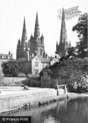 Lichfield, The Cathedral c.1955
