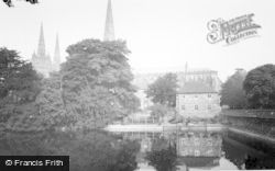 Lichfield, The Cathedral c.1965