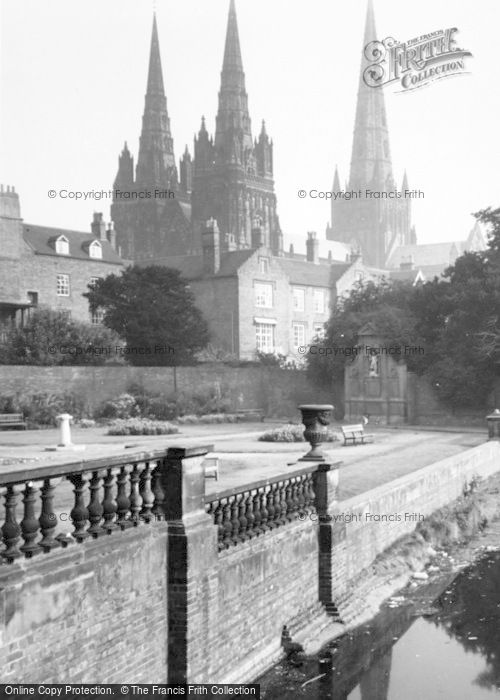 Photo of Lichfield, The Cathedral c.1965